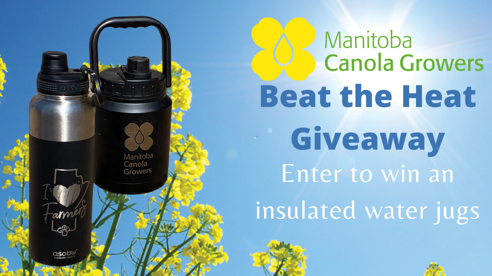 Contest to win an insulated water jug